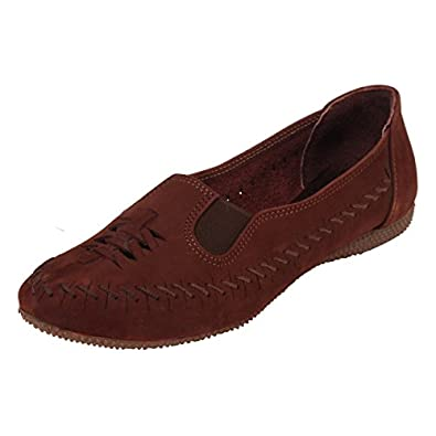 Catwalk Brown Leather Casual Shoes for Women's