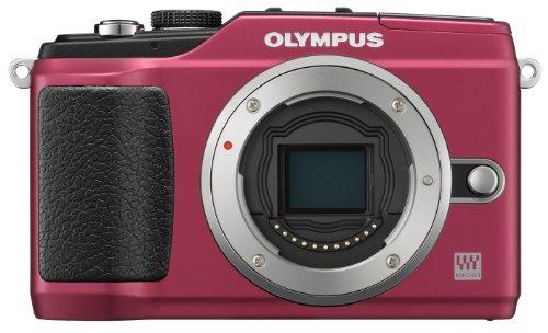OLYMPUS ミラーレス一眼 PEN E-PL2 ボディ レッド E-PL2 BODY RED
