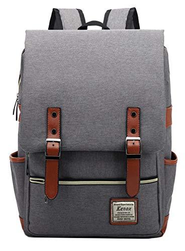 Kenox Vintage Laptop Backpack College Backpack School Bag Fits 15-inch Laptop