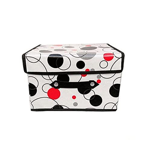 FEIHAIYANY Zwl Cajas de almacenamiento, plegables, organizador de ropa, 1 unidad, organizador de ropa (marrón, verde, rosa, blanco), tamaño: S 40 x 30 x 25 cm, M 50 x 40 x 30 cm