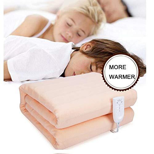 HealHeaters verwarmingsdeken, 2 temperatuurniveaus, bescherming tegen oververhitting, knuffeldeken, geen geluid, dubbele temperatuur en dubbele controle, 200 x 180 cm