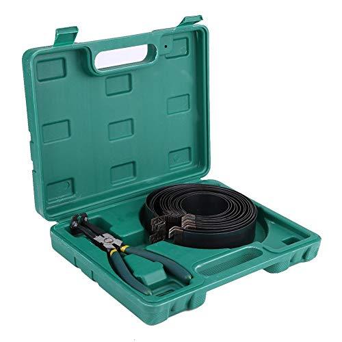 lyrlody- Kolbenringzange Reparatur-Werkzeug Auto Motor Kolbenring Kompressor Zangensatz mit 14 stück kolbenringen und 1 stück zange