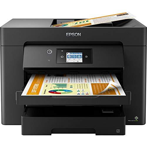 Epson WorkForce WF-7830DTWF 4-in-1 Business Tintenstrahl-Multifunktionsgerät (Drucker Scanner, Kopierer, Fax, WiFi, Ethernet, NFC, Full Duplex, Einzelpatronen, bis DIN A3) schwarz