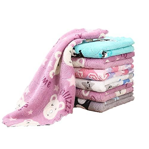 QKFON No hay rastro de franela de cisne, supers toallitas absorbentes paño de limpieza de cocina, adecuado para el hogar, cocina, espejo de limpieza de vidrio pantalla de plato (25 x 25)