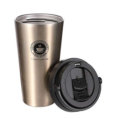 CHIMAERA Tazza Termica,Tazza per Caffe da Viaggio,Tazza Caffe Portatile 304 Acciaio Inossidabile,500ml Tazza Termica Adatta a Caffe,Te e Altre Bevande