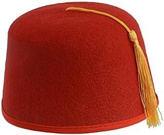 834e62b2358ec3 Kangaroo Red Fez Felt Hat w/ Gold Tassel