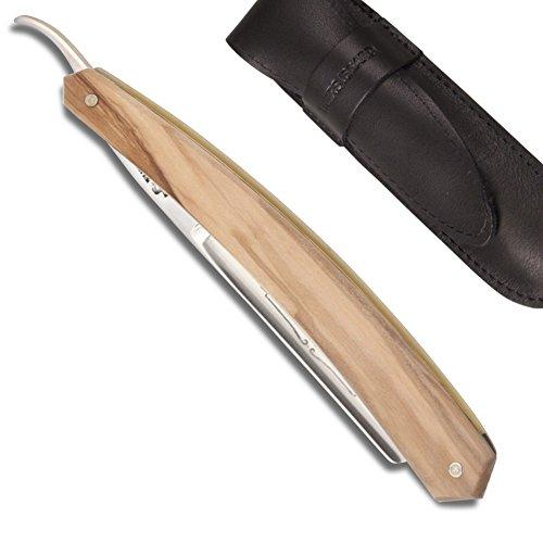 Le Bison 5/8 Rasiermesser, gerade, Olivenholz