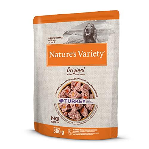 Nature's Variety Original No Grain - Paté para Perros Adultos con Pavo - Caja 8 x 300 g