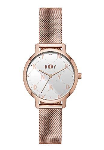 DKNY Damen-Uhren Analog Quarz One Size Rosé Edelstahl 32001753