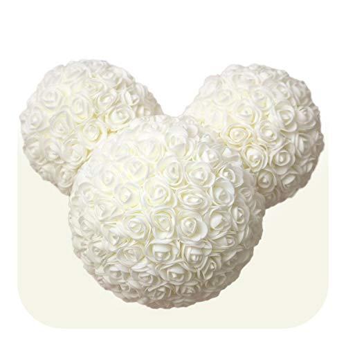 star-xing Rose bedeckte Bär Schaum Rose Bär künstliche Rose Kaninchen Kopf Puppe Geschenk für Schwangere Frau künstliche Dekoration-E-,