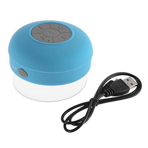 JIE Altavoz portátil Coche Manos Libres Recibir Llamada Mini Altavoz Caja Azul