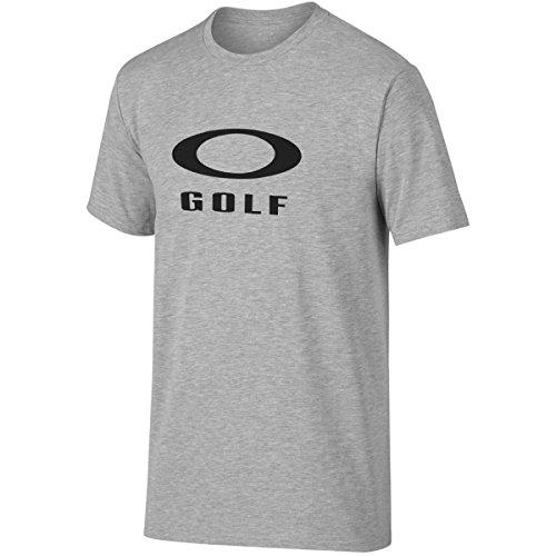 Oakley Golf 2016 O-Golf Short Sleeve Tee Mens Sports Regular Fit T-Shirt Heather Gray Medium