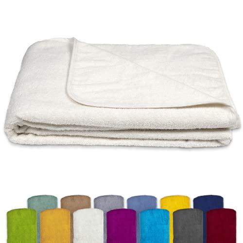KiGATEX Frottee-Decke aus 100prozent Baumwolle - Sommer-Decke, Tagesdecke, Bettdecke, Strandtuch - Waschbar - Öko-Tex Zertifiziert - 150x200 cm - Farbe
