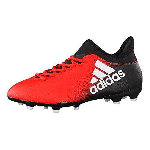adidas X 16.3 FG, Botas de fútbol Hombre, Rojo (Red/Ftwbla/Negbas), 41 1/3 EU