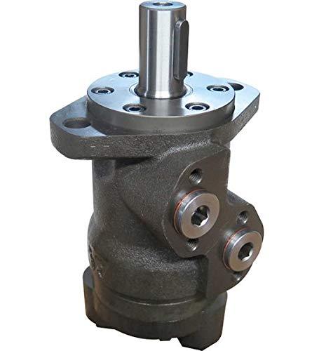 Hydraulikmotor M+S MPE_CD, Schluckvolumen wählbar von 25 cm3/U – 630 cm3/U, Anschlüsse (hinten): G 1/2'', Welle: Ø 25 mm zylindrisch Größe 80 ccm