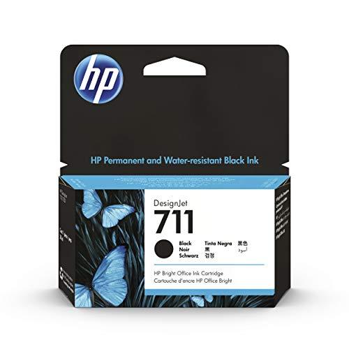 HP 711 CZ129A Negro, Cartucho de Tinta Original HP DesignJet, de 38ml, para Impresoras Plotter de Gran Formato HP DesignJet T120, T125, T130, T520, T525, T530 y Cabezal de Impresión HP 711