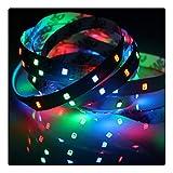 RongWang Tira de luz LED de 12 V, RGB Impermeable SMD 2835 5M 60LED / M RGB Tira de Luces LED de 12 V Cinta de lámpara de 12 V Luz de Fondo de TV (Color : RGB, Waterproof Level : Waterproof)