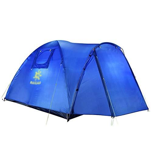 SSG Home Utilisation Multiple Sports de Plein air Tente Camping Épaississement Extérieur Intérieur Crème Solaire Anti-Pluie Respirant Coupe-Vent Tente Pliante Équipement d'extérieur (Color : Blue)