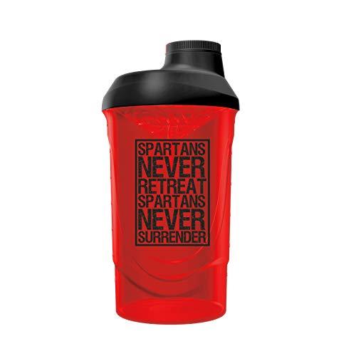 Gods Rage Shaker Wave Shaker Proteinshaker Eiweiß Protein Shaker 600ml Fassungsvermögen (Spartans Never Surrender)