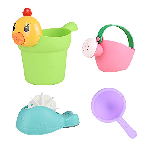 Children Bathroom Bathing Toys Little Yellow Duck Shampoo Cup Shower Baby Watering Can Beach Toys Colorful Bucket Toy Set (Duck)