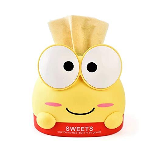 Decoración para el hogar Bandeja de cajón de rana de dibujos animados de plástico para el hogar, servilleta, caja de almacenamiento, bandeja de cajón de regalo (color: amarillo)