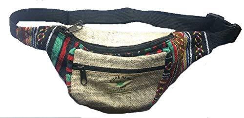 TERRAPIN Hombres Mujeres cáñamo Hip cinturón de Cintura riñonera Festival Bumbag Travel Money Belt N210 grn