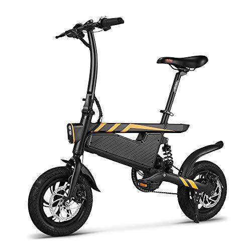 SHIJING T18 Bicicleta eléctrica Plegable de la energía de 12 Pulgadas Assist...