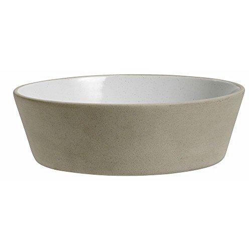 Steingut Schale Suppenteller beige weiß von NORDAL 18 cm L