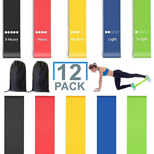 LABOTA 12PCS Resistance Loop Bands,Training for Yoga Home Fitness,...