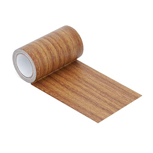 Azobur Repair Tape Patch Wood Textured Adhesive for Door Floor Table and Chair (Antique Oak)