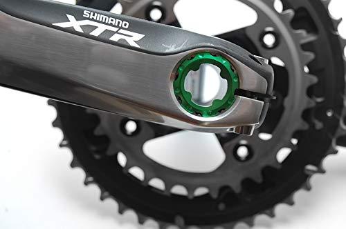 FTC Kurbel Schraube für Shimano XTR XT LX SLX Ultegra 105 grün