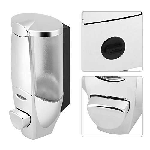 Handmatige zeepdispenser voor wandmontage, Shampoo-douchebak voor badkamers, Badkamers, Keukens, Toiletten voor shampoos, Douchegels, Wasmiddelen, Wasmiddelen, Zeep