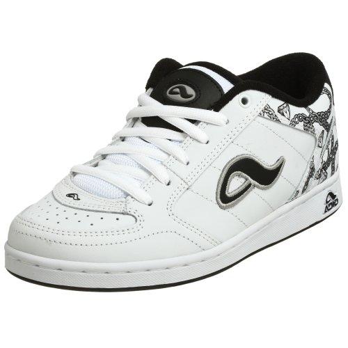 Adio Men's Hamilton Skate Shoe,White/Silver/Black,7.5 M US