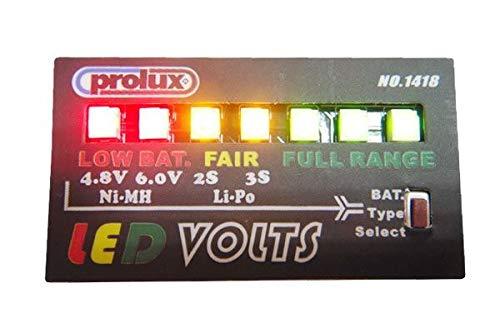 lux.pro Prolux Volt-Saver Security Alarm LED Indicator PX1418 NiCd NiMh 4-5C Lipo 2-3S