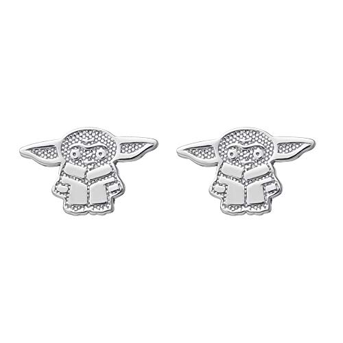 Disney Star Wars The Mandalorian The Child Sterling Silver Stud Earrings, Official License