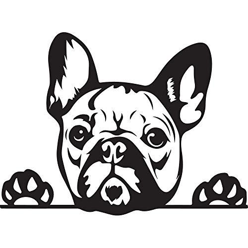 NBFU DECALS Funny French Bulldog Peeking Paws Cute Tongue (Black) (Set of 2) Premium Waterproof Vinyl Decal Stickers Laptop Phone Accessory Helmet Car Window Bumper Mug Tuber Cup Door Wall Decoration