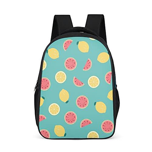 Hinfunees Mochila con estampado de sandía y limón, estilo vintage, para senderismo, para mujer, para la escuela, gris brillante., talla única