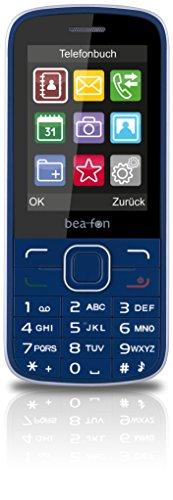 Bea-fon Classic Line C150 Handy (Dual-Sim, 1,3 Megapixel, microSDHC) blau