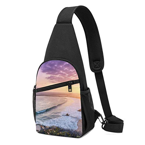 Corona Del Mar California Usa Best Fashion Sling Bag Unisex Shoulder Backpack Chest Pack Causal Crossbody Daypack