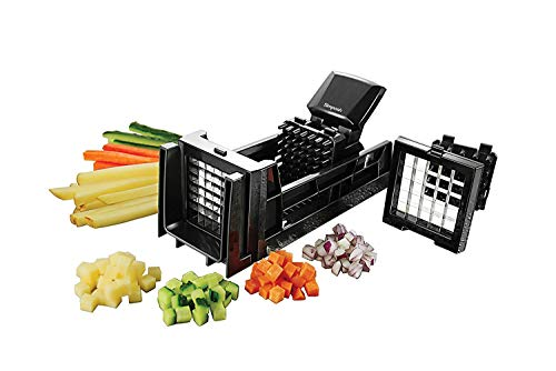 Simposh Easy Food Dicer and French Fry Cutter With 2 Interchangeable Blades, Great with Vegetables, Potato, Onions, Carrots, Cucumbers, Fruits, Apples and more