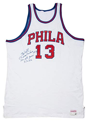Extraordinary Wilt Chamberlain 100 Point Game 3/2/1962 Signed Jersey Beckett COA