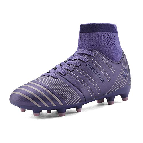 DREAM PAIRS Big Kid 160862-K Blue Pink Soccer Football Cleats Shoes -...