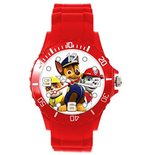 Orologio al quarzo con cinturino in silicone rosso per i fan dei PUPS