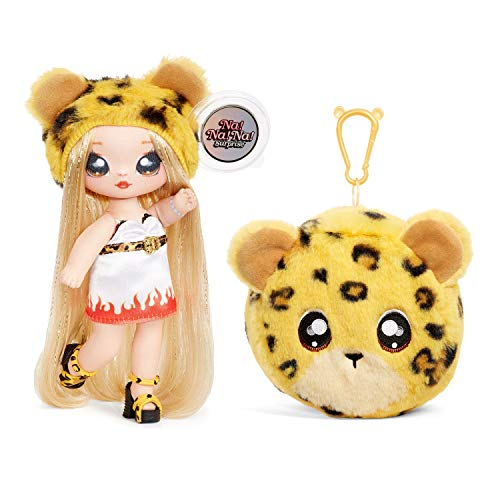 Na Na Na Surprise - Muñecas de Moda 2 en 1 Coleccionables para Niñas, Jennel Jaguar, Bolso de Felpa Serie 3