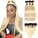 YOLAMI Hair Ombre 1b/613 Blonde Bundles With Lace...