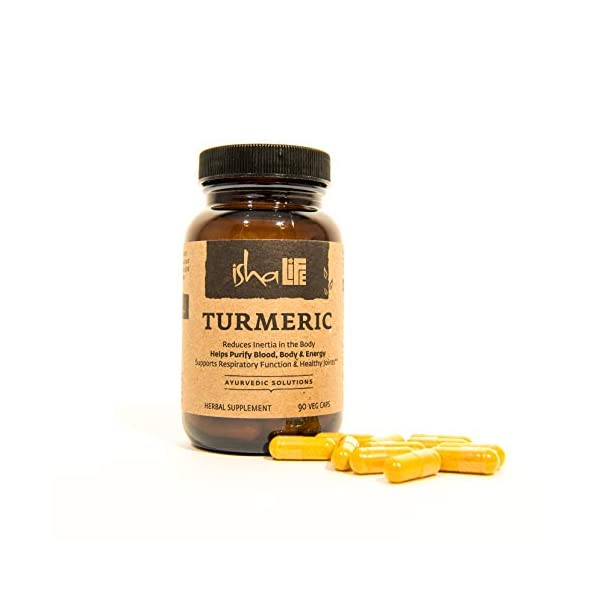 Health Shopping Isha Organic Turmeric Curcumin Supplement — Natural Ayurvedic Herbal Cleanser and