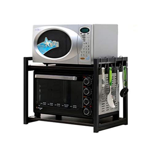 Print plank opslag rack keuken opslag dubbele oven rack Vaatwasser opslag plank mooi geschenk 53CM*40CM*47CM Zwart
