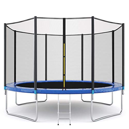 Trampoline Combo, 12 FT Kids Trampoline with Enclosure Net and Spring Cover Padding, Outdoor Jumper Trampolines for Family School Entertainment for Kids Garden Workout (1)