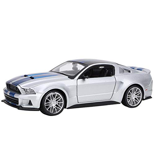 Bicaquu 1:24 Miniatura de aleación Modelo de Coche de Carreras Mustang Toy Gift Collection Decoración para Gift Collection Hme Decoration