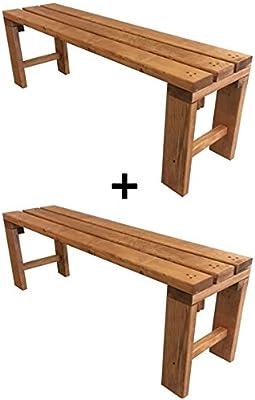 Panca Panchina in legno al naturale o 7 colori 100x38.5x50h ANCHE SU MISURA